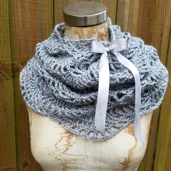 Accessories Scalloped Lace Crocheted Scarf Poshmark